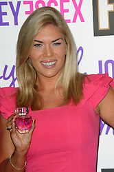 Joey Essex Fragrance Launch.  Frankie Essex - sister of TV personality Joey Essex, poses with her brothers fragrance, Sanctum hotel, London, United Kingdom. Thursday, 12th September 2013. Picture by Chris Joseph / i-Images
