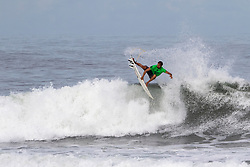 Bino Lopes of Brazil advances in 2nd to round 4 from round 3 heat 3 of the Hawaiian Pro at Haleiwa, Oahu, Hawaii, USA