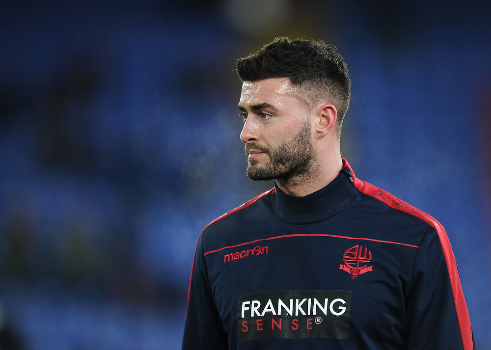 Bolton Wanderers' Gary Madine during the pre-match warm-up<br /> <br /> Photographer Ashley Western/CameraSport<br /> <br /> Emirates FA Cup Third Round Replay - Crystal Palace v Bolton Wanderers - Tuesday 17th January 2017 - Selhurst Park - London<br />  <br /> World Copyright © 2017 CameraSport. All rights reserved. 43 Linden Ave. Countesthorpe. Leicester. England. LE8 5PG - Tel: +44 (0) 116 277 4147 - admin@camerasport.com - www.camerasport.com