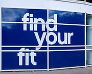 The Gym Group advertising poster, Cardinal Park, Ipswich, Suffolk, England, UK - Find Your Fit