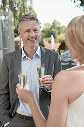 Man woman party wedding drinking champagne