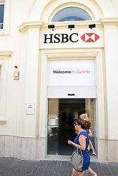 HSBC bank, Valetta, Malta, July 2018