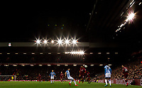 A general view of the action in the closing stages of the second half<br /> <br /> Photographer Alex Dodd/CameraSport<br /> <br /> The Premier League - Liverpool v Huddersfield Town - Friday 26th April 2019 - Anfield - Liverpool<br /> <br /> World Copyright © 2019 CameraSport. All rights reserved. 43 Linden Ave. Countesthorpe. Leicester. England. LE8 5PG - Tel: +44 (0) 116 277 4147 - admin@camerasport.com - www.camerasport.com