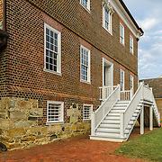 Colonial architecture in historic Annapolis, MD.