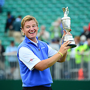 The 2012 Open Championship at Royal Lytham & St Anne's. Sunday . Day 4 of the Championship.  Ernie Els wins the open after a birdie on the 18th.  Picture Robert Perry The Scotsman 21st July 2012