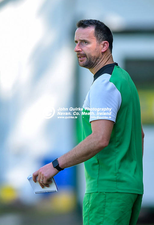 Duleek manager, Brian Murphy,  during the Trim Celtic v Duleek, NEFL (Premier) match in Tully Park, Trim.<br /> <br /> Photo: GERRY SHANAHAN-WWW.QUIRKE.IE<br /> <br /> 18-07-2021