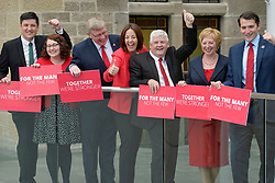 Scottish Labour MPs (left to right) Ged Killen, Danielle Rowley, Martin Whitfield, Scottish Labour leader Kezia Dugdale, Hugh Gaffney Lesley Laird, and Paul Sweeney, after a press conference at the Rutherglen Town Hall, Glasgow.
