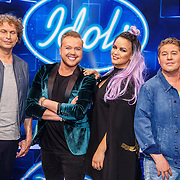NLD/Amsterdam20160518 - 1e Liveshow Idols 5 2016, jury, Ronald Molendijk, Jamai Loman, Eva Simons en Martijn Krabbe