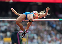 Athletics - 2017 IAAF London World Athletics Championships - Day Two (AM Session)<br /> <br /> Event: High Jump Women - Heptathlon<br /> <br /> Nadine Broersen (NED) clears the bar  <br /> <br /> COLORSPORT/DANIEL BEARHAM