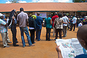 Kenyans are voting today. Some of the Kenyan voters you see in this pictures have been queuing for almost 7 hours. Officialy, the polling stations are closing at 5 o' clock, but an IEBC-official said that the stations will be open until the last vote has been cast.