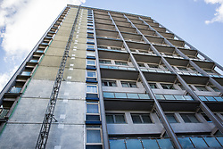 London, UK. 14 June, 2019. Brinklow House in Little Venice failed fire safety testing following the Grenfell Tower fire on 14th June 2017 in which 72 people died and over 70 were injured.