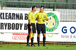 Referees during football match between NS Mura and NK Krsko in 5th Round of Prva liga Telekom Slovenije 2018/19, on August 19, 2018 in Mestni stadion Fazanerija, Murska Sobota, Slovenia. Photo by Mario Horvat / Sportida