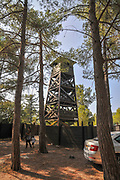 Forest fire observation tower, Israel, Hanita forest in the Western Galilee, Israel