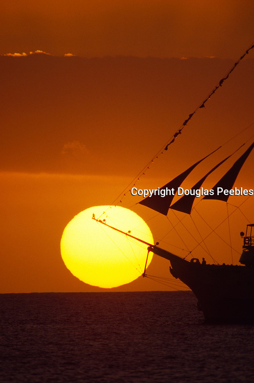 Sunset with ship<br />