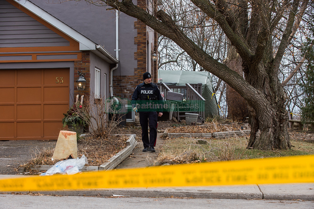 """Toronto, CAN., 29 Jan 2018 - A large green tent enclosing the back yard of a Leaside home is the site where the remains of 3 additional victims have been located. Toronto landscaper Bruce McArthur, 66, was charged with an additional three First-Degree Murders, on January, 29th, 2018, in addition to the two charges at the time of his arrest on January, 18th, 2018. Police have found the remains of three victims at one of 35 sites where McArthur had worked as a landscaper. Now being described by Toronto Police as a """"serial killer"""", a description they were not prepared to use at the time of his arrest.VICTOR BIRO/ZumaPress"""