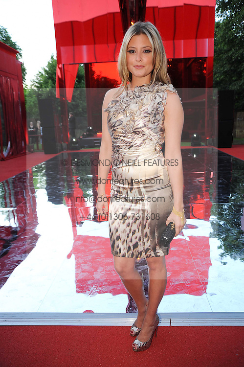 HOLLY VALANCE at the annual Serpentine Gallery Summer party this year sponsored by Jaguar held at the Serpentine Gallery, Kensington Gardens, London on 8th July 2010.  2010 marks the 40th anniversary of the Serpentine Gallery and the 10th Pavilion.