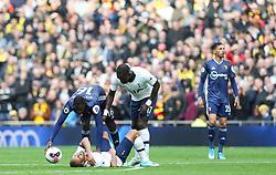 Lucas of Tottenham Hotspur suffers a knock - Mandatory by-line: Arron Gent/JMP - 19/10/2019 - FOOTBALL - Tottenham Hotspur Stadium - London, England - Tottenham Hotspur v Watford - Premier League