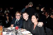 SIR ELTON JOHN; BEN DREW; ( PLAN B ) GEOGIE ATHERTON, Grey Goose Winter Ball to Benefit the Elton John AIDS Foundation. Battersea park. London. 29 October 2011. <br /> <br />  , -DO NOT ARCHIVE-© Copyright Photograph by Dafydd Jones. 248 Clapham Rd. London SW9 0PZ. Tel 0207 820 0771. www.dafjones.com.