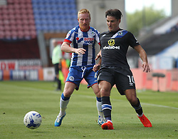 Ben Marshall of Blackburn Rovers (R) and David Perkins of Wigan Athletic in action - Mandatory by-line: Jack Phillips/JMP - 13/08/2016 - FOOTBALL - DW Stadium - Wigan, England - Wigan Athletic v Blackburn Rovers - EFL Sky Bet Championship