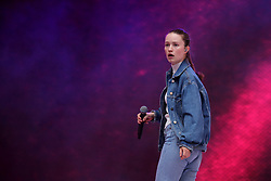 Sigrid on stage during Capital's Summertime Ball. The world's biggest stars perform live for 80,000 Capital listeners at Wembley Stadium at the UK's biggest summer party. PRESS ASSOCIATION PHOTO. Picture date: Saturday June 8, 2019. Photo credit should read: Isabel Infantes/PA Wire