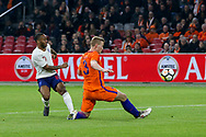 England midfielder Raheem Sterling shoots at goal during the Friendly match between Netherlands and England at the Amsterdam Arena, Amsterdam, Netherlands on 23 March 2018. Picture by Phil Duncan.