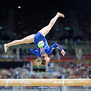 Gymnastics - Olympics: Day 2   Amy Tinkler #342 of Great Britain performing her routine on the Balance Beam during the Artistic Gymnastics Women's Team Qualification round at the Rio Olympic Arena on August 7, 2016 in Rio de Janeiro, Brazil. (Photo by Tim Clayton/Corbis via Getty Images)