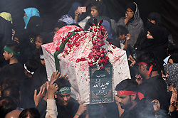 November 2, 2018 - Allahabad, Uttar Pradesh, India - Allahabad: Shia muslims take part in ''72 Taboot'' procession during Muharram month in Allahabad on 02-11-2018. (Credit Image: © Prabhat Kumar Verma/ZUMA Wire)