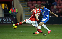 Lee Angol scores his goal to make it 4-0 - Mandatory byline: Joe Dent/JMP - 07966 386802 - 21/11/2015 - FOOTBALL - Alexandra Stadium - Crewe, England - Crewe Alexandra v Peterborough United - Sky Bet League One