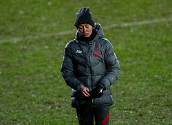 BIRKENHEAD, ENGLAND - Sunday, March 28, 2021: Liverpool's interim manager Amber Whiteley during the FA Women's Championship game between Liverpool FC Women and Blackburn Rovers Ladies FC at Prenton Park. The game ended in a 1-1 draw. (Pic by David Rawcliffe/Propaganda)