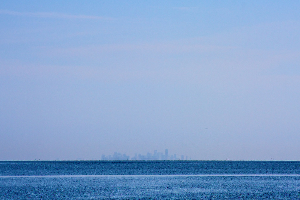 Miami Skyline From Biscayne Bay, 26 Miles Away, 8/08
