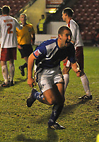Photo: Tony Oudot/Richard Lane Photography. Walsall v Milwall. Coca-Cola Football League One. 13/12/2008. <br /> Andrew Frampton celebrates after scoring the winning goal for Millwall