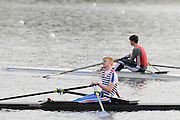 Eton, United Kingdom.    Background GBR  LM1X Zak LEE-GREEN after winning the B Final Lightweight men's single Sculls, Foreground Jammie COOMBES, at the 2012 GB Rowing Trials, Dorney Lake. Near Windsor Berks Sunday  11/03/2012  [Mandatory Credit; Peter Spurrier/Intersport-images]