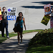 Members of the Westboro Baptist Church demonstrate in Los Angeles. Picketing Hillel Council at UCLA.