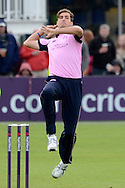 Steven Finn about to bowl during the NatWest T20 Blast South Group match between Gloucestershire County Cricket Club and Middlesex County Cricket Club at the Bristol County Ground, Bristol, United Kingdom on 15 May 2015. Photo by Alan Franklin.