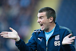 Dundee manager Barry Smith..Falkirk 1 v 0 Dundee, Ramsdens Cup Second Round, 9th August 2011.