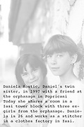 Daniela Hostic (right) at the orphanage of Popricani when she was 14 in 1997