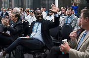 Elmer Moore from Scale Up Milwaukee at the Wisconsin Entrepreneurship Conference at Venue 42 in Milwaukee, Wisconsin, Tuesday, June 4, 2019.