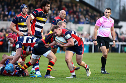 Ian Madigan of Bristol Rugby pushes forward  - Mandatory by-line: Dougie Allward/JMP - 30/12/2017 - RUGBY - The Athletic Ground - Richmond, England - Richmond v Bristol Rugby - Greene King IPA Championship