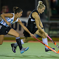 Black Sticks' Stacey Michelsen during the four nations hockey match between New Zealand Black Sticks Women and Argentina, a 2-2 draw at Gallagher Hockey Centre, Hamilton, New Zealand, 17 April 2013.  Photo: Stephen Barker/photosport.co.nz