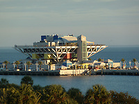 St. Petersburg Pier at Sunset from the Vinoy Hotel. Image taken with a Leica V-Lux 20 camera (ISO 80, 49 mm, f/4.8, 1/160 sec)