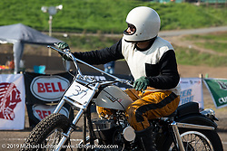 Masashi Saito racing his number 37 1955 KH Harley-Davidson at the Okie Dokie Vintage Races put on by Go Takamine's Brat Style at West Point Off-Road Village, Kawagoe, Saitama, Japan. Tuesday, December 4, 2018. Photography ©2018 Michael Lichter.