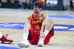 September 17, 2018 - Madrid, Spain - Santiago Yusta of Spain during the FIBA Basketball World Cup Qualifier match Spain against Latvia at Wizink Center in Madrid, Spain. September 17, 2018. (Credit Image: © Coolmedia/NurPhoto/ZUMA Press)