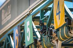 Câmera remota montada no partidor do páreo de 1.600m para produtos de 3 anos s/mais de uma vitória com o tempo de 1m46s. FOTO: Jefferson Bernardes/ Agência Preview