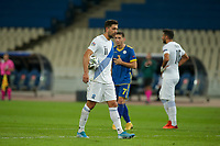ATHENS, GREECE - OCTOBER 14: Tasos Bakasetasof Greece goes for a penalty kick during the UEFA Nations League group stage match between Greece and Kosovo at OACA Spyros Louis on October 14, 2020 in Athens, Greece. (Photo by MB Media)