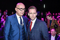 Marco Bizzarri and Tom Hiddleston on the front row during the Gucci catwalk show during Milan Fashion Week 2017