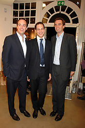 Left to right, LORD BUCKHURST, LORD FREDERICK WINDSOR and FRITZ VON WESTENHOLZ at a party to celebrate the launch of Diesel's new mens & womens fragrances 'Fule for Life' at their newly reopened store on the Kings Road, London on 13th September 2007.<br />