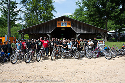 Invited builders line up in front of the barn for the BC Moto Show at the Tennessee Motorcycles and Music Revival at Loretta Lynn's Ranch. Hurricane Mills, TN, USA. Saturday, May 22, 2021. Photography ©2021 Michael Lichter.
