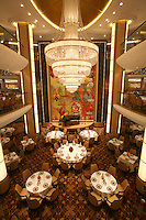 Launch of Royal Caribbean International's newest ship Allure of the Seas..Adagio Dining room.