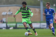Forest Green Rovers Reuben Reid(26) during the EFL Sky Bet League 2 match between Forest Green Rovers and Chesterfield at the New Lawn, Forest Green, United Kingdom on 21 April 2018. Picture by Shane Healey.