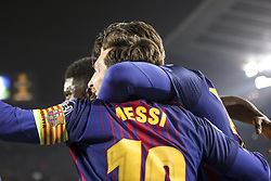 March 14, 2018 - Barcelona, Catalonia, Spain - FC Barcelona forward Lionel Messi (10) celebrates scoring the goal during UEFA Champions League match between FC Barcelona and Chelsea FC at Camp Nou Stadium corresponding of Round of 16, Second leg on March 14, 2018 in Barcelona, Spain. (Credit Image: © Urbanandsport/NurPhoto via ZUMA Press)